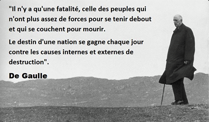 De Gaulle Citation Peuple Debout