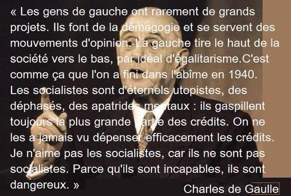 Citation De Gaulle Socialistes