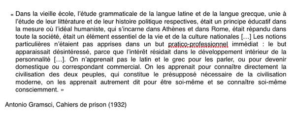 Gramsci latin grec