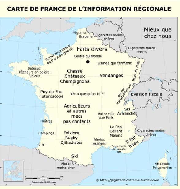 Carte de l'information régionale