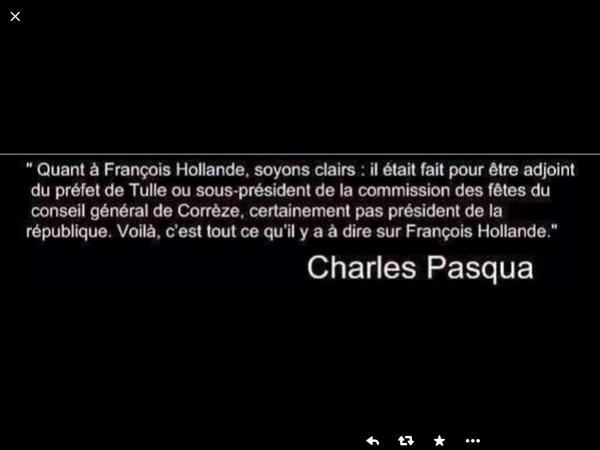 Charles Pasqua - Hollande