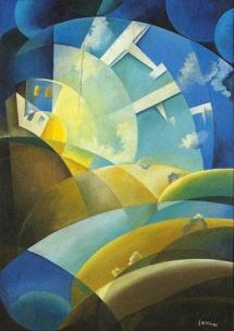Décollage au coucher de soleil, 1932
