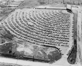 Drive-in theater, South Bend Indiana, 1950s