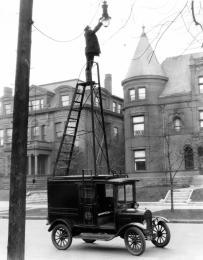Ford T modèle allumeur de réverbères, 1926