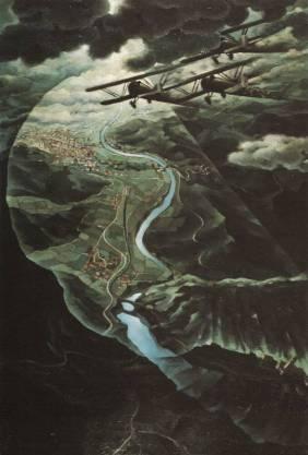En vol au dessus des champs de Batailles, 1938