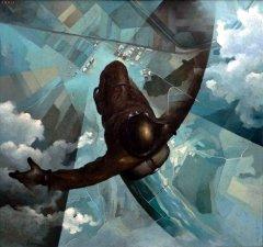 Avant l'ouverture du parachute, 1939