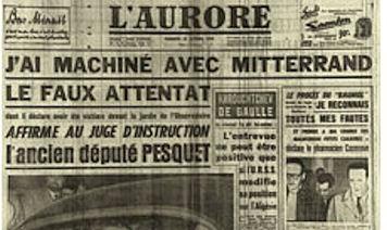 Mitterrand Faux Attentat